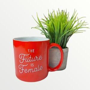 Posh+Pop 'Future is Female' Red Mug
